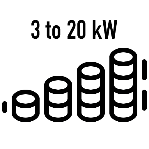 Flexible-power-options (3-20 kW)